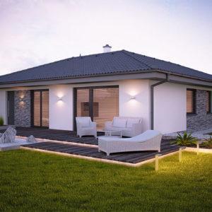 Проект дома с чердаком