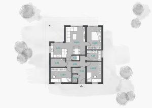планировка дома 120 метров в калининградской области