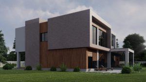 Проект дома в стиле хай-тек в Калининграде