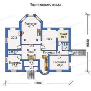 Проект дома в стиле замка