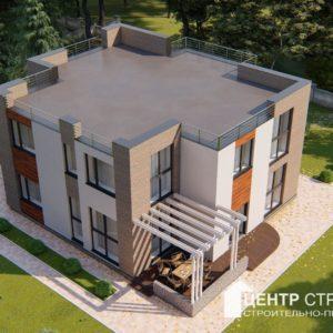 сколько стоит дом с плоской крышей калининград