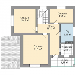 Строительство двухэтажного дома 154 м2 под ключ