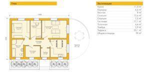 Планировка 100 кв дома