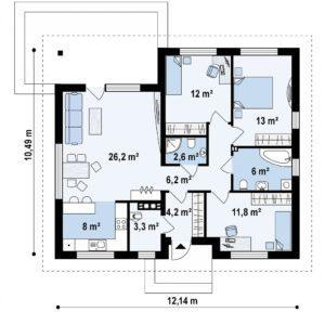 план дома 100 кв