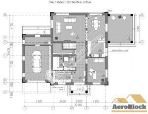 план помещений современного загородного дома